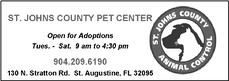 St. Johns County animal Control and Pet center