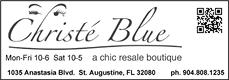 christe blue consignment